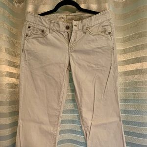 Slim Fit Boot Cut Cream Corduroy Pants
